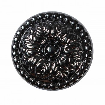 <PRE>Cabinet Knob Nickel Black On Brass 1 1/4inch Dia Floral </PRE>zoom3