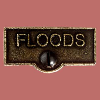 <PRE>Switch Plate Tags FLOODS Name Signs Labels Cast Brass </PRE>