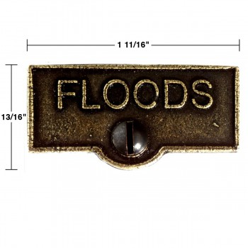 spec-<PRE>Switch Plate Tags FLOODS Name Signs Labels Cast Brass </PRE>