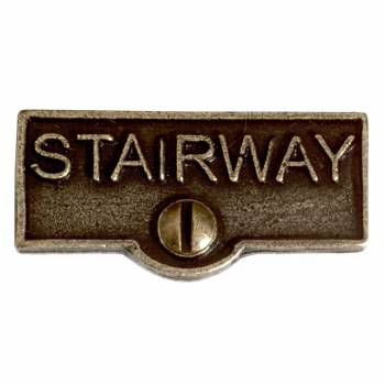 Switch Plate Tags STAIRWAY Name Signs Labels Cast Brass