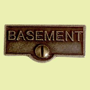 <PRE>Switch Plate Tags BASEMENT Name Signs Labels Cast Brass </PRE>zoom2