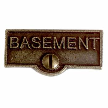 Switch Plate Tags BASEMENT Name Signs Labels Cast Brass 10447grid