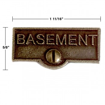spec-<PRE>Switch Plate Tags BASEMENT Name Signs Labels Cast Brass </PRE>