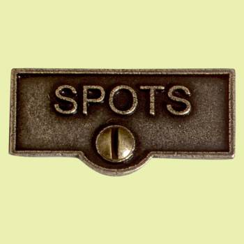 <PRE>Switch Plate Tags SPOT Name Signs Labels Cast Brass </PRE>