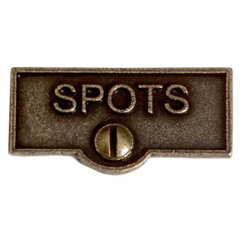Switch Plate Tags SPOT Name Signs Labels Cast Brass 10448grid