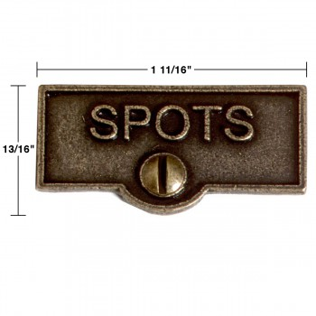 spec-<PRE>Switch Plate Tags SPOT Name Signs Labels Cast Brass </PRE>