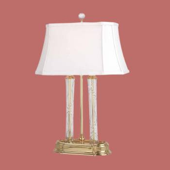 Crystal Table Lamps - Crystal Table Lamp Double Crystal Pillar Lamp by the Renovator's Supply