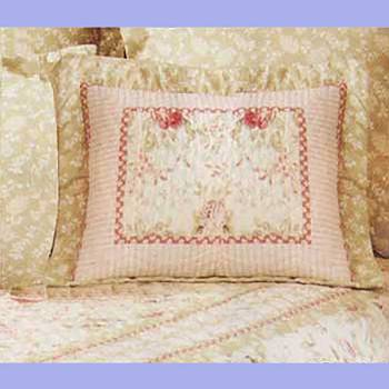 Chantelle Multi Colored Pure Cotton Pillow 21 in. x 27 in. Shams Cotton Pillow Shams Cotton Pillow Sham