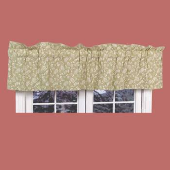 "spec-<PRE>Valances Green Cotton Valance Chantelle 18""H x 80""W </PRE>"