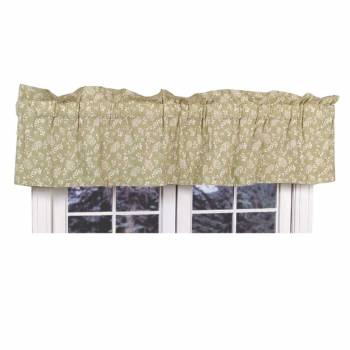 "<PRE>Valances Green Cotton Valance Chantelle 18inchH x 80""W </PRE>zoom1"