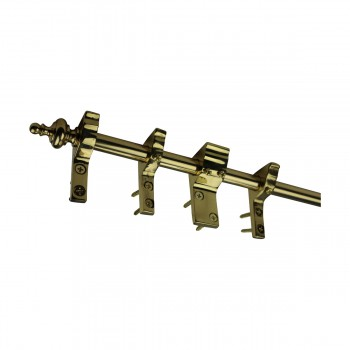 spec-<PRE>Quilt Hanger Bright Brass 9 Ft Urn Finial </PRE>
