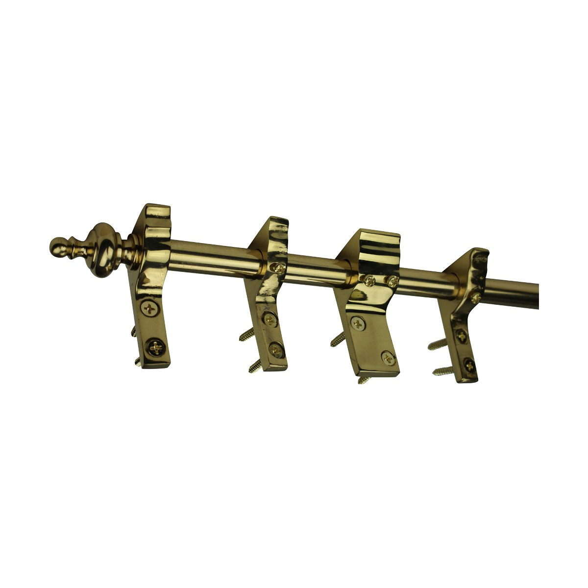 Quilt Hanger Bright Brass 9 Ft Urn Finial Quilt Holders Heavy duty quilt hanger Quilt Rack