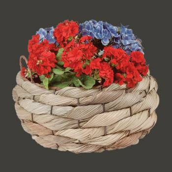 Planter Baskets Palm Leaf Woven w Handles 11.5 H Basket Baskets