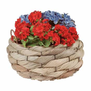<PRE>Planter Baskets Palm Leaf Woven w/ Handles 11.5&quot; H  </PRE>