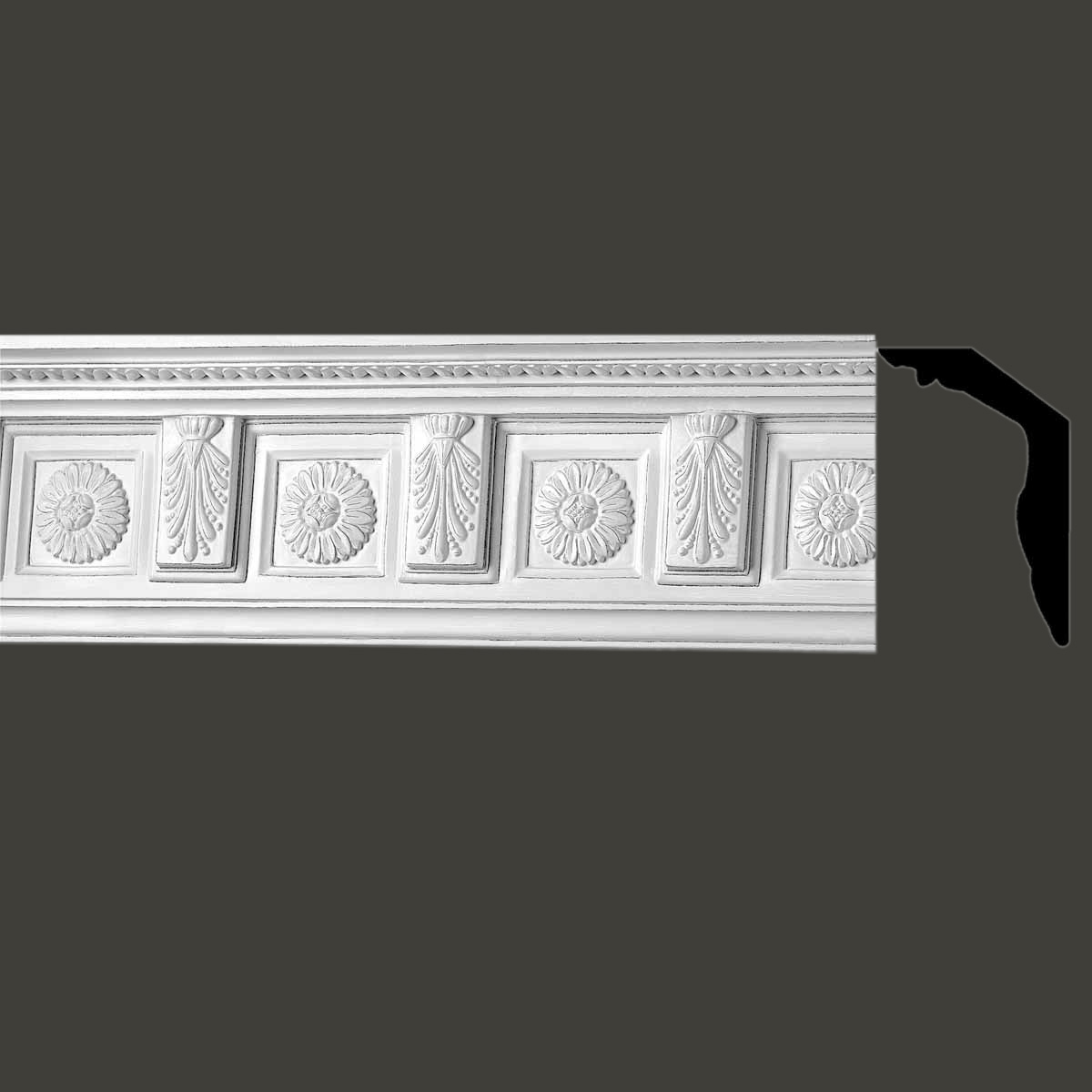 Cornice White Urethane Sample of 10493 18 Long Cornice Cornice Moulding Cornice Molding