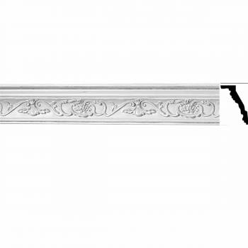 Ornate Cornice White Urethane 3 3/4