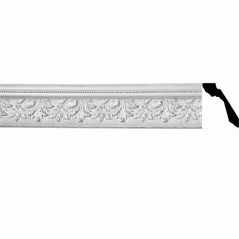 "Cornice White Urethane 4 3/4"" H Bright Leaf Ornate 10497grid"