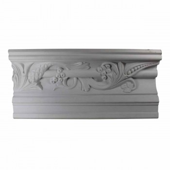 "Cornice White Urethane 8 3/4"" H Julia Ornate 10503grid"