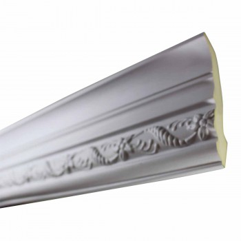 Cornice White Urethane Emma  93 L  Ornate Crown Molding Corners Decorative White Crown Molding Simple Ceiling Crown Molding