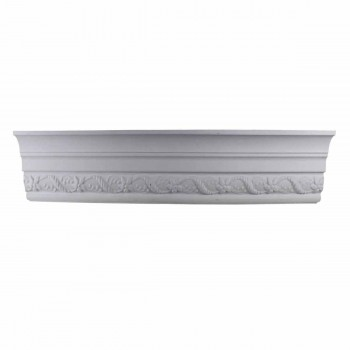 Cornice White Urethane Emma  93 L  Ornate Crown Molding Corners Decorative White Crown Molding Simple Ceiling Crown Molding