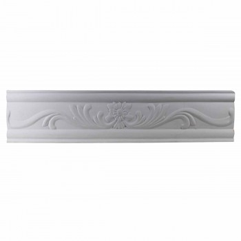 Ornate Cornice White Urethane 3 1/8
