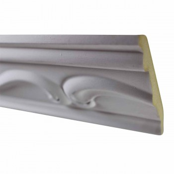 Ornate Cornice White Urethane 3 7/8
