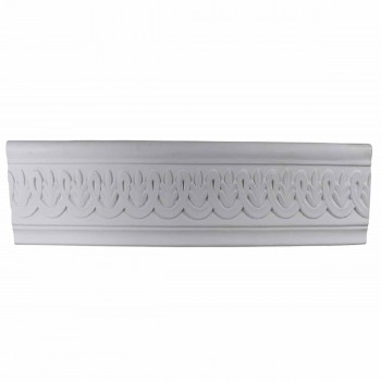 White Urethane Foam Legasse Ornate Crown Molding 76.875 in. Long 10516grid