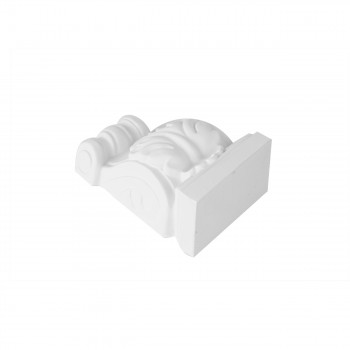 <PRE>Victorian Wall Fireplace Corbel White Urethane Vintage </PRE>zoom4