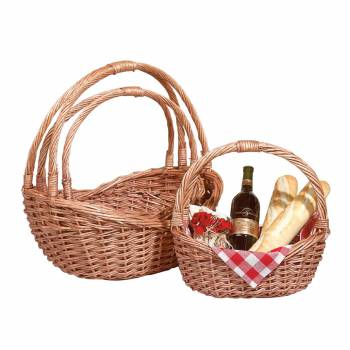 Basket Natural Basket Set of 3 10527grid
