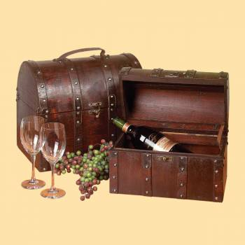 <PRE>Treasure Chests Decoration Cherry Wood Set of 2 </PRE>