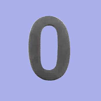 <PRE>House Number Zero (0) Black Coated Brass 2.25 inch Peel and Stick </PRE>zoom2