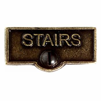 Switch Plate Tags STAIRS Name Signs Labels Cast Brass