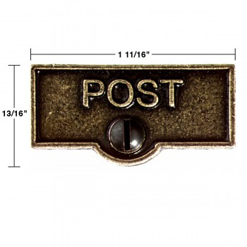 spec-<PRE>Switch Plate Tags POST Name Signs Labels Cast Brass </PRE>