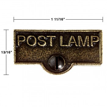 spec-<PRE>Switch Plate Tags POST LAMP Name Signs Labels Cast Brass </PRE>