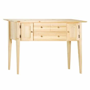 Shaker Pine Side Table With Storage 36