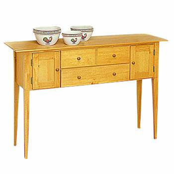 Sideboards Honey Pine 56W Wood Buffet Buffets Wood Sideboard