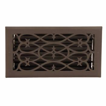 Floor Heat Register Louver Vent Steel 5 3/4 x 11 3/4 Duct 10617grid