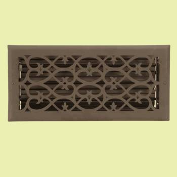 <PRE>Floor Heat Register Louver Vent Steel 5 3/4 x 13 3/4 Duct  </PRE>zoom2