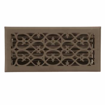 Floor Heat Register Louver Vent Steel 5 3/4 x 13 3/4 Duct  10618grid