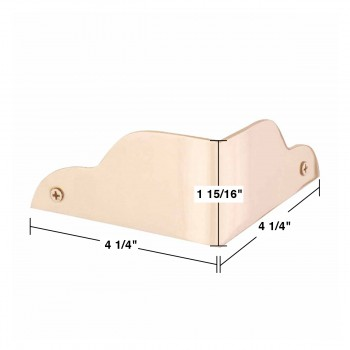 "spec-<PRE>Corner Guards Bright Solid Brass 1 15/16""H 90 degrees </PRE>"