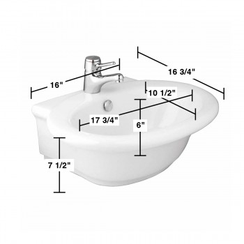 spec-<PRE>White Bathroom Vessel Sink Vitreous China Single Hole Faucet Gloss Finish </PRE>