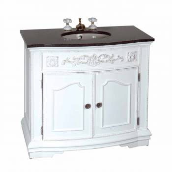 "37"" Bathroom Vanity Marble Sink Travertine Counterop 10634grid"