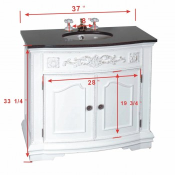 spec-<PRE>37 inch Bathroom Vanity Sink and Cabinet Marble Top </PRE>