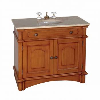 Vanity Sink Marble Vitreous China Vanity Sink with Marble Countertop &10644grid