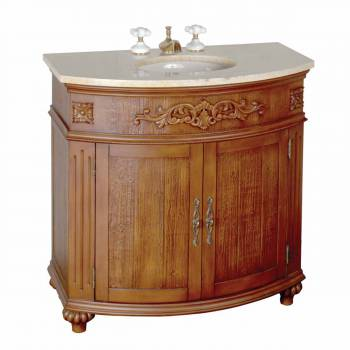 Marble Vanity Sink  Cyprus Marble Countertop  Vitreous China Basin