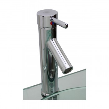 <PRE>Bathroom Glass Wall Mount Vessel Sink Stainless Steel Bar Faucet and Drain</PRE>zoom12