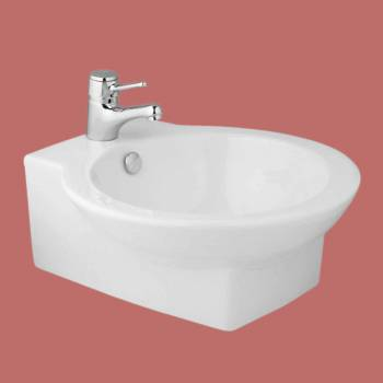 <PRE>White Porcelain Ceramic Bathroom Round Vessel Sink Above Counter Gloss Finish</PRE>zoom2