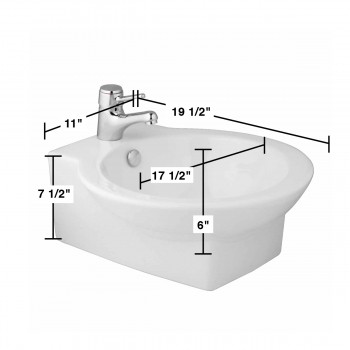 spec-<PRE>White Porcelain Ceramic Bathroom Round Vessel Sink Above Counter Gloss Finish</PRE>