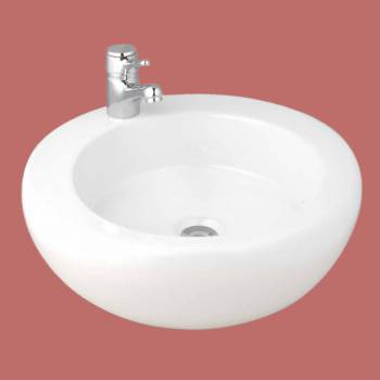 <PRE>Bathroom Vessel Sink Round White Vitreous China Countertop</PRE>