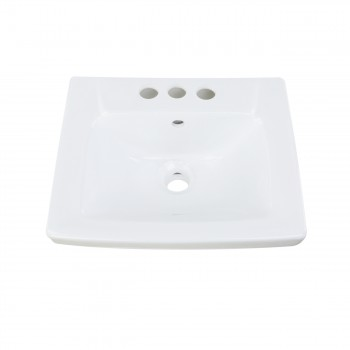 <PRE>Renovator's Supply Child White Bathroom Pedestal Sink Centerset Faucet Holes</PRE>zoom5